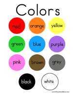 colors for kids. Unique Kids The Color Word Written Across Each Colored Circle Red Orange Yellow  Green Blue Purple Pink White This Is A Printable Minibook For Children To Throughout Colors For Kids L