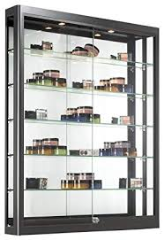 wall display case with glass doors magnificent com mounted height adjule interior design 2
