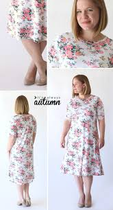 Simple Dress Pattern For Beginners Extraordinary The Easy Tee Swing Dress Simple Sewing Tutorial It's Always Autumn
