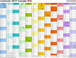 Blank Calendar Excel Canada Calendar 2017 Free Printable Excel Templates