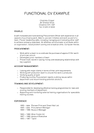 Example Functional Resume Examples Of Resumes