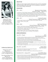 Professional Interior Design Resume Icwguide Info