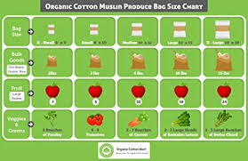 Apple Bags Size Chart Buy Muslin Produce Storage Bags Almond Milk Bags