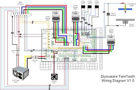twinteeth wiring the electronics diyouware com noticeable reprap ramps 1.4 schematic pdf at Reprap Wiring Diagram