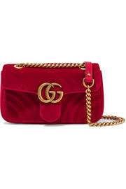 gucci bags red. gucci gg marmont mini quilted velvet shoulder bag bags red