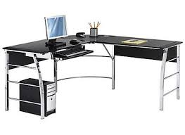 computer desks for office. Wonderful For L Shaped Computer Desks Inspire Realspace Mezza Glass Desk BlackChrome By  Office Pertaining To 13  On For S
