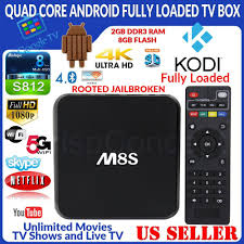 MBOX M8S Quad Core Jailbroken Android Fully Loaded XBMC TV Box 8GB Wi-Fi  HDMI