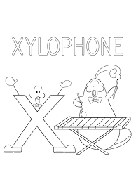 Our free coloring pages for adults and kids, range from star wars to mickey mouse. Xylophone Letter X 4 Coloring Page Free Printable Coloring Pages For Kids
