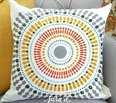 Funky throw pillows Cushion Cover Funky Throw Pillows Cutting Edge Stencils Shares How To Easily Create Accent Using The Wheel Paint Singlestable Funky Throw Pillows Cutting Edge Stencils Shares How To Easily