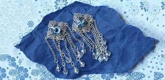 easy jewelry making tutorial handmade vintage chandelier earrings with crystal beads
