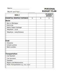 Monthly Home Budget Template Essential Monthly Expenses Budget Template Excel Monthly