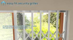 Easy Fit Security Grilles - Installation Of Collapsible Gate - YouTube