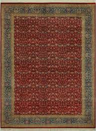 astoria grand bellville persian hand knotted wool red teal area rug