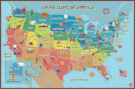 map of the united states with capitals for kids