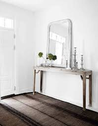 front foyer table and mirror