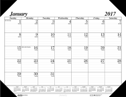com house of doolittle 2017 monthly desk pad calendar economy 22 x 17 hod12402 17 office s