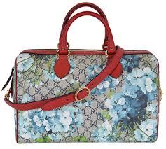 com gucci women s gg supreme blooms convertible boston bag shoes