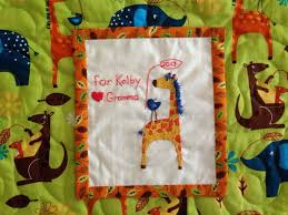 306 best Quilt labels images on Pinterest | Knitting tutorials ... & Designed this embroidered giraffe quilt label to coordinate with grand  daughter, Kolby's zoo animal quilt Adamdwight.com