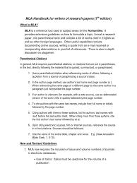 Mla Style Citation Publishing