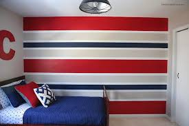Stripe painted walls Tape Painted Stripe Wall Heart Naptime How To Paint Perfect Striped Walls Heart Nap Time