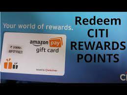redeem citibank rewards credit cards