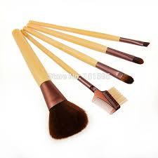 beauty basics 5pcs pack eco friendly bamboo handle makeup brush sets basic foundation tools
