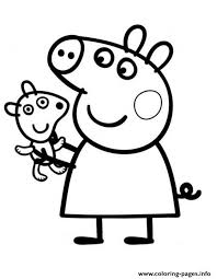 Pretty Peppa Pig Coloring Pages Printable