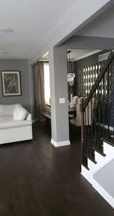 dark brown wood floors living room grey