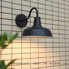 xloo black outdoor gooseneck barn light