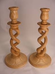 ash open barley twist candle sticks