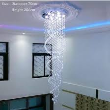 duplex building stair crystal chandelier spiral crystal led chandeliers free installation shape round