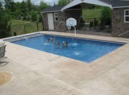 rectangular fiberglass pool