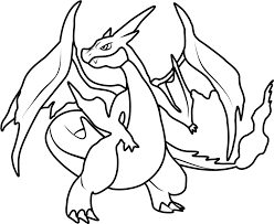 the mega charizard y coloring pages