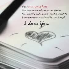 Photo Editor With Love Quotes Gorgeous Write Name On Love Quote Cards Picture Write Name On Love Greeting