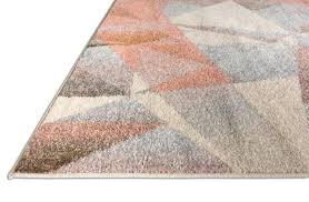 dusty pink multi color modern geometric triangle pattern abstract x runner area rug contemporary thick soft pink bath rug