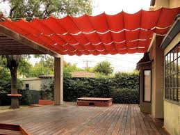 diy fabric patio cover modest on home intended for shades outstanding shade structure red rectangle 15