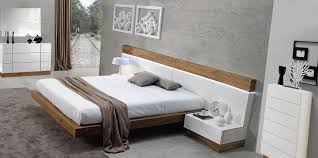 white wood madrid modern bedroom set by