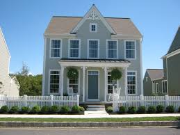 Grey Wall Exterior Paint Colors With Wooden Fence Can Add The - Exterior paint for houses