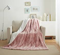 Dusty Rose Throw Blanket