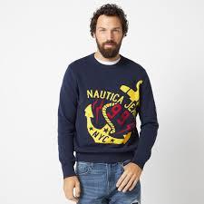 Nautica Jeans Co Intarsia Graphic Sweater