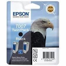 <b>Набор из двух черных</b> картриджей Epson T007 для SP870, 1270 ...