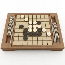 Wooden Othello Board Game Reversi 100D model CGTrader 6