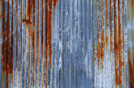 rusty corrugated iron metal texture or background stock photo