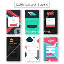 Material Design Stock Images Set Of Six Creative Login Screens Material Design Ui Ux