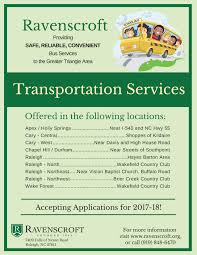 school bus transportation services if you would like more information about our transportation services please contact our admissions office at 919 848 6470 or send us an email