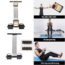 Dụng cụ tập gym đa năng, dụng cụ tập thể dục tại nhà, máy tập thể dục 5 lò  xo giúp cơ bụng, cơ tay, cơ ngực săn chắc - Sắp xếp