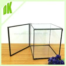 stained glass display box clear jewelry pyramid with shelf and beveled extra large glass curio display box kmart