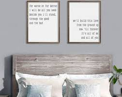 Master bedroom wall decor Rustic Bedroom Wall Decor From The Ground Up All Of Me Loves All Of You Farmhouse Decor Large Wood Sign Saying Couples Gift 21 Etsy Bedroom Wall Decor Etsy