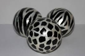 Orb Decorative Ball Decorative orbs vase fillers accent balls spheres animal print 60