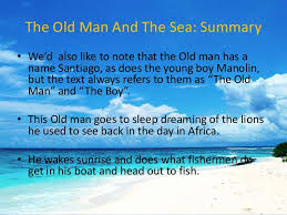 essay questions for the old man and the sea